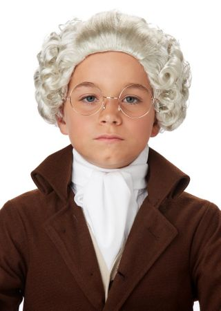 Child's Colonial Man Gray Wig