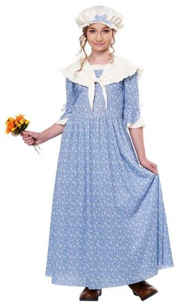 Child's Colonial Village Girl Costume