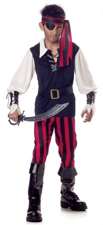 Child's Cutthroat Pirate Boy Costume
