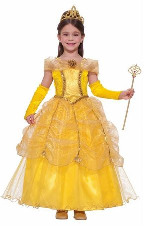 Child's Deluxe Golden Princess Costume