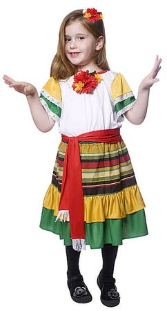Child's Deluxe Mexican Dancer Costume