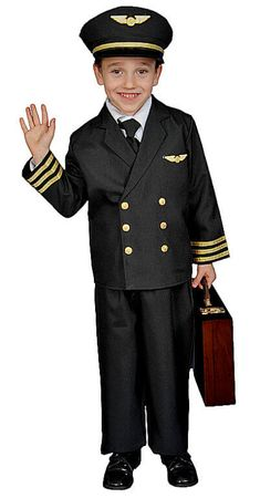 Child's Deluxe Pilot Costume With Jacket