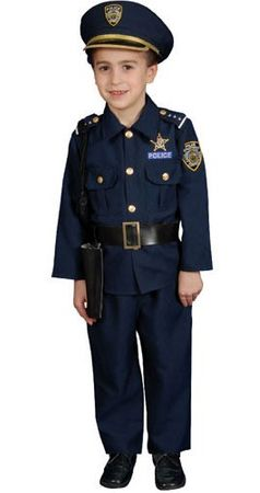 Child's Deluxe Police Officer Costume