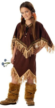 Child's Deluxe Princess Wildflower Native American Costume