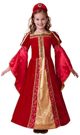 Child's Deluxe Red Renaissance Princess Costume