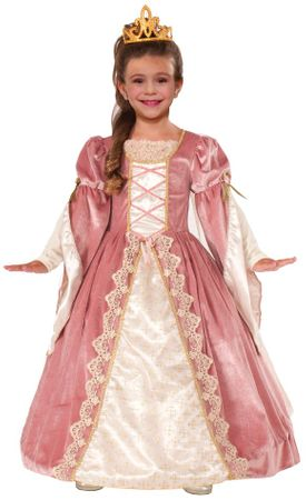 Child's Deluxe Victorian Rose Princess Costume