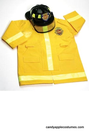 Child's Fireman Coat and Hat