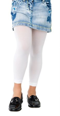 Child's Footless Tights - White or Black