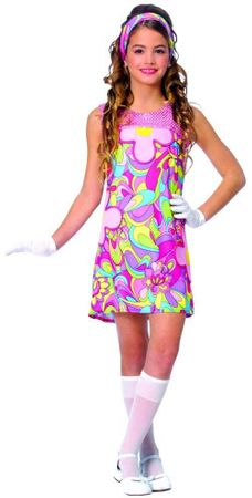 Child's Groovy Girl 60's Costume