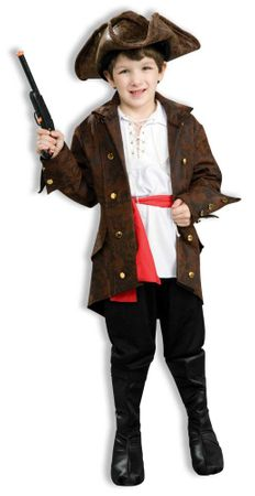Child's High Seas Pirate Costume, Size Small