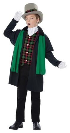 Child's Holiday Caroler Boy Costume