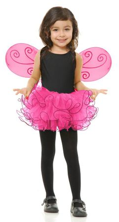 Child's Hot Pink Pixie Tutu and Wings Set