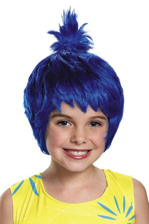 Child's Inside Out Blue Joy Wig