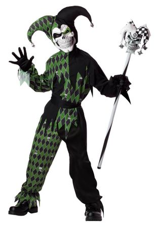 Child's Joke's on You Evil Jester Costume