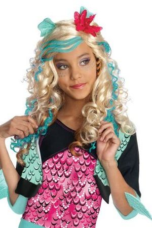 Child's Lagoona Blue Monster High Wig