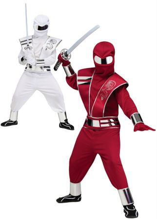Child's Mirror Ninja Costume - Red or White