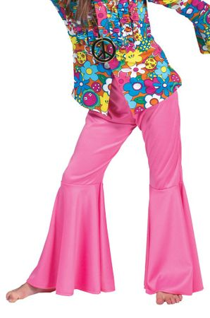 Child's Pink Hippie Bell Bottom Pants