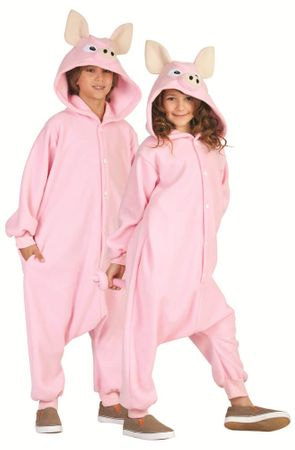 Child's Pink Pig Funsies Costume