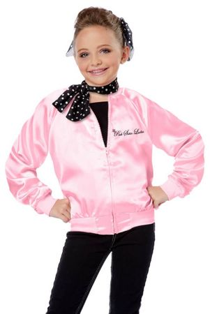 Child's Pink Satin Ladies Jacket  Scarf