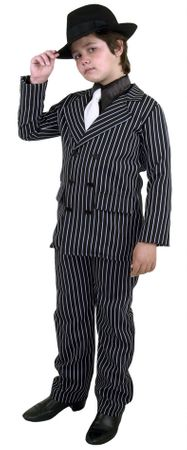 Child's Pinstriped 6-Button Gangster Suit Costume