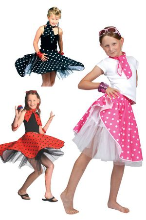 Child's Polka Dot Sock Hop Skirt