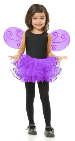 Child's Purple Pixie Tutu and Wings Set