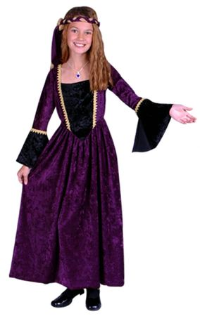 Child's Purple Renaissance Beauty Costume
