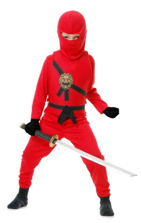 Child's Red Ninja Avenger Costume