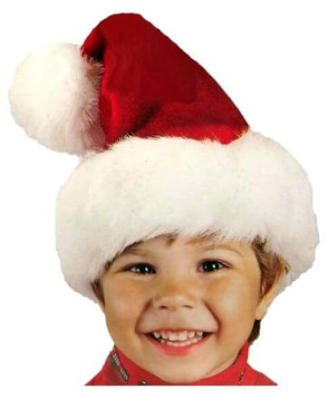 Child's Red Plush Santa Hat
