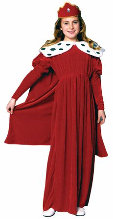 Child's Red Royal Queen Costume