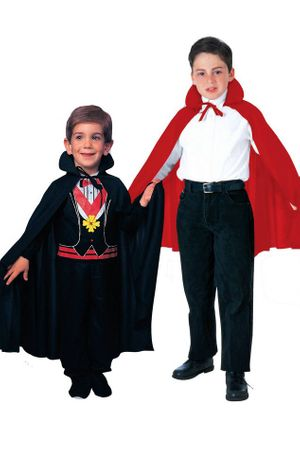 Child's Satin Cape - Red or Black