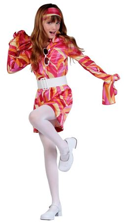 Child's Slick Chick Pink Go Go Costume