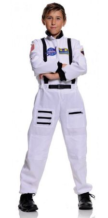 Child's White Astronaut Jumpsuit Costume
