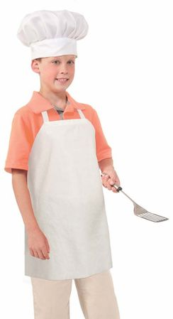 Child's White Chef Costume Apron