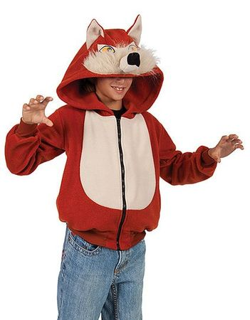 Child's Wild Red Fox Hoodie Costume