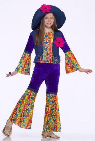 Child Size 60's Flower Child Costume, Size Small