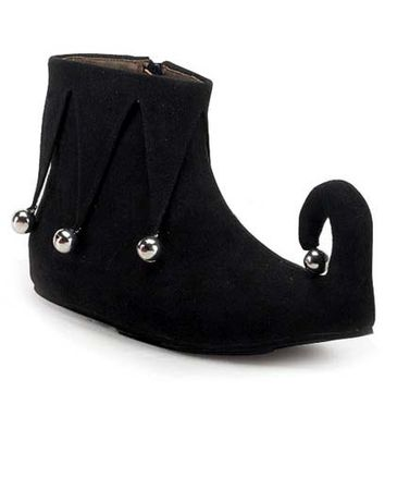 Child Size Elf/Jester Shoes - Black