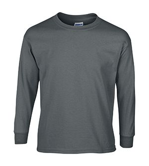 Child Size Gray Long Sleeve Tee Shirt