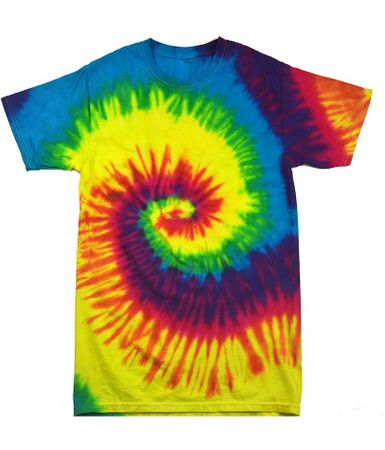 Child Size Reactive Rainbow Tie Dye Tee Shirt