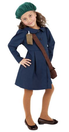 Child's 1940s Girl Historical Costume