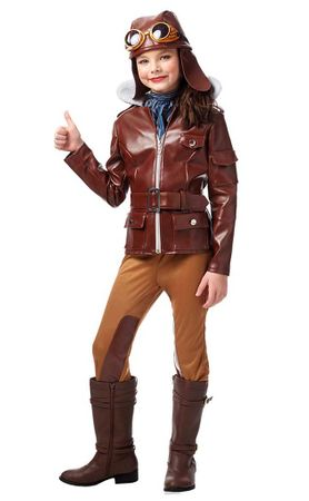 Child's Lady Earhart Aviator Costume