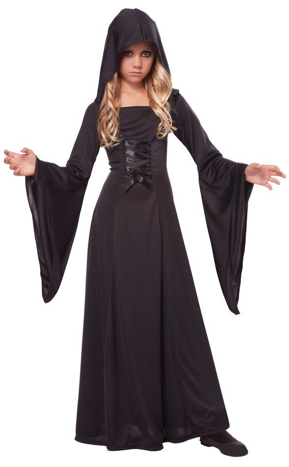 Childs Black Hooded Robe Costume Candy Apple Costumes Grim