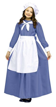 Child's Blue Pilgrim Girl Costume