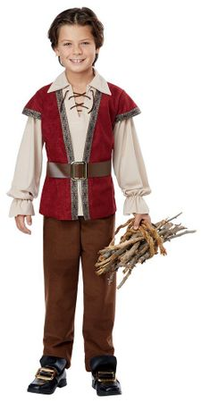 Child's Burgundy Renaissanace Boy Costume