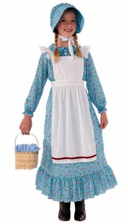 Child's Calico Print Pioneer Girl Costume