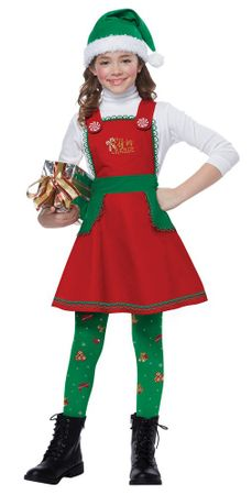 Child's Christmas Elf in Charge Costume