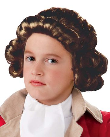 Child's Colonial Boy Wig in Brown