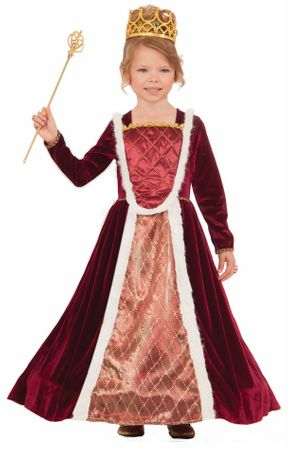 Child's Designer Royal Medieval Queen Costume