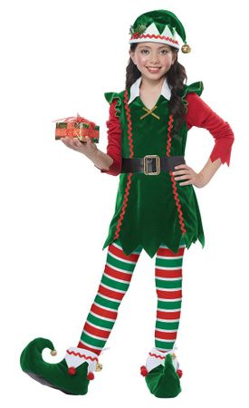 Child's Festive Elf Costume