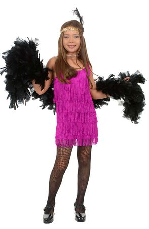 Child's Fuchsia Fringed Flapper Costume